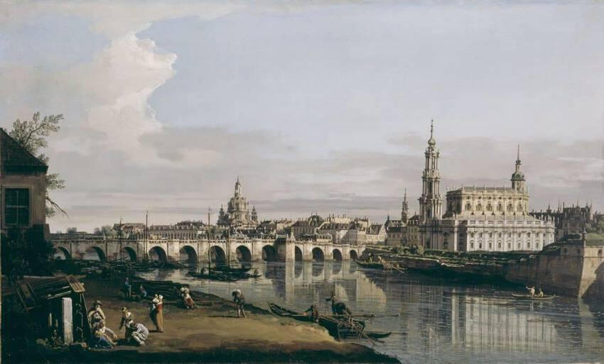 Canaletto Blick Dresden Historisch