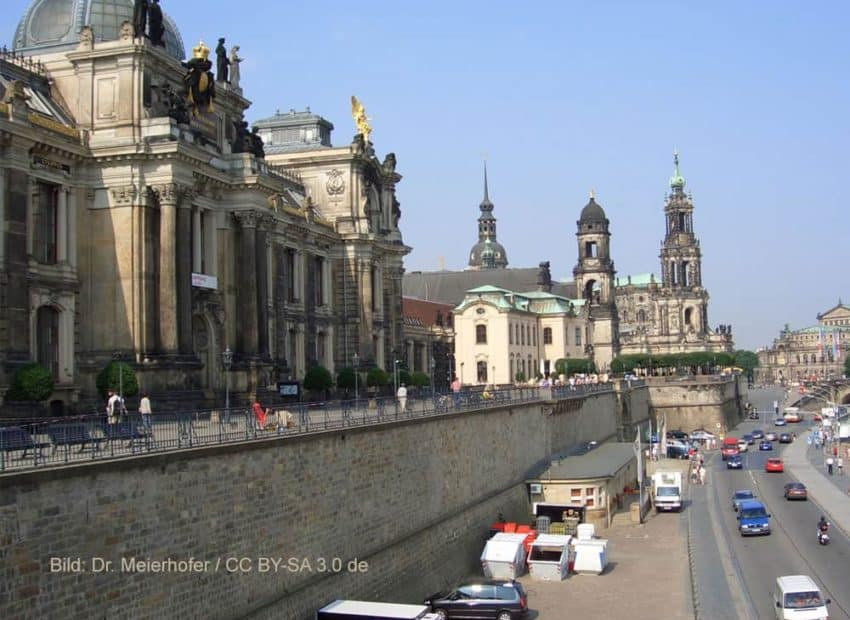 Brühlsche Terrasse mit Panoramablick