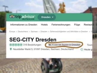 SEG-CITY Segway Dresden Spitzenbewertung bei