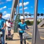 Unterwegs mit dem Segway / Brücke in Dresden