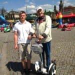 Vater Sohn Opa Segway Tour durch Dresden